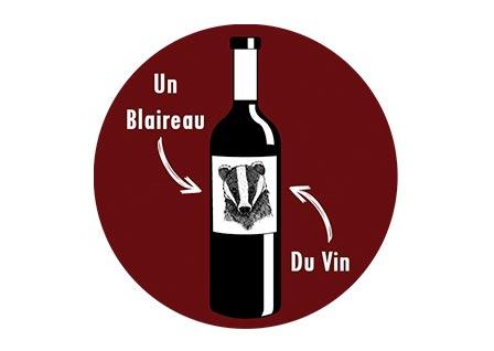 Un Blaireau et du Vin